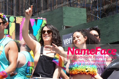 The 49th Annual NYC Pride March Abbi Jacobson and Ilana Glazer - NameFace Photo Agency New York City - hello@nameface.com - nameface.com - Photo by Daniela Kirsch