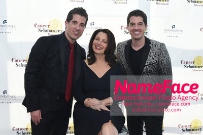 Fran Dreschers Cabaret Cruise Dinner Cancer Schmancer Will Nunziata, Fran Drescher and Anthony Nunziata - NameFace Photo Agency New York City - hello@nameface.com - nameface.com - Photo by Daniela Kirsch
