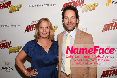 The Cinema Society with Synchrony and Avion host a screening of Marvel Studios Ant-Man and the Wasp Julie Yaeger and Paul Rudd - NameFace Photo Agency New York City - hello@nameface.com - nameface.com - Photo by Daniela Kirsch