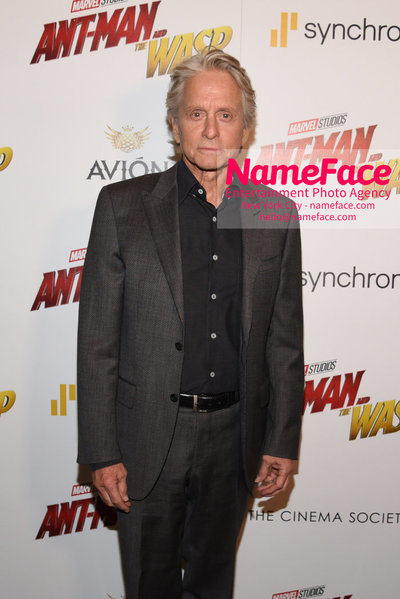 The Cinema Society with Synchrony and Avion host a screening of Marvel Studios Ant-Man and the Wasp Michael Douglas - NameFace Photo Agency New York City - hello@nameface.com - nameface.com - Photo by Daniela Kirsch
