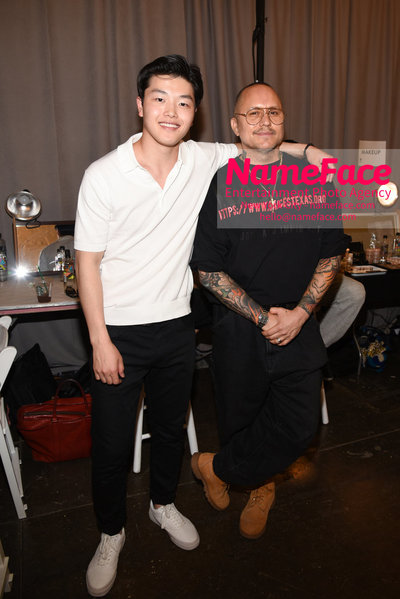 WILLY CHAVARRIA Runway Show - Mens NYFW - Front Row Alex Shibutani and Willy Chavarria - NameFace Photo Agency New York City - hello@nameface.com - nameface.com - Photo by Daniela Kirsch