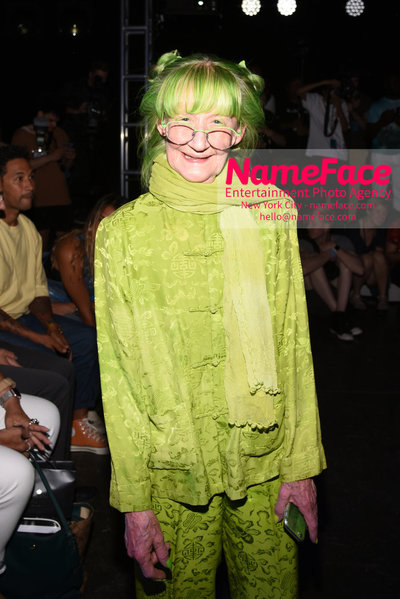 WILLY CHAVARRIA Runway Show - Mens NYFW - Front Row Elizabeth Eaton Rosenthal The Green Lady - NameFace Photo Agency New York City - hello@nameface.com - nameface.com - Photo by Daniela Kirsch