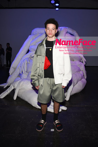 Feng Chen Wang Runway Show SS19  - NYFW Mens - Front Row Lil Mosey - NameFace Photo Agency New York City - hello@nameface.com - nameface.com - Photo by Daniela Kirsch