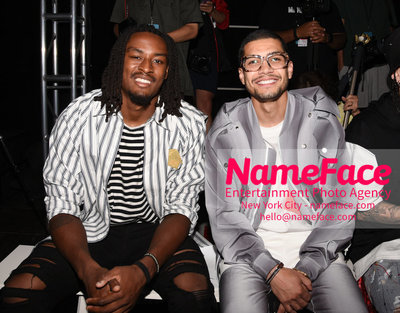 Feng Chen Wang Runway Show SS19  - NYFW Mens - Front Row Tye Smith and Rick Gonzalez - NameFace Photo Agency New York City - hello@nameface.com - nameface.com - Photo by Daniela Kirsch