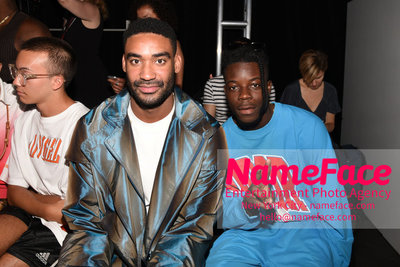 Feng Chen Wang Runway Show SS19  - NYFW Mens - Front Row Zeke Thomas and Thutmose - NameFace Photo Agency New York City - hello@nameface.com - nameface.com - Photo by Daniela Kirsch