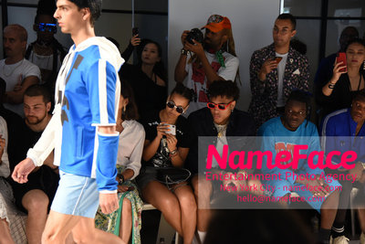 WOODHOUSE Army SS19 Show - Mens NYFW - Front Row Kelly Oubre Jr. and Thutmose - NameFace Photo Agency New York City - hello@nameface.com - nameface.com - Photo by Daniela Kirsch
