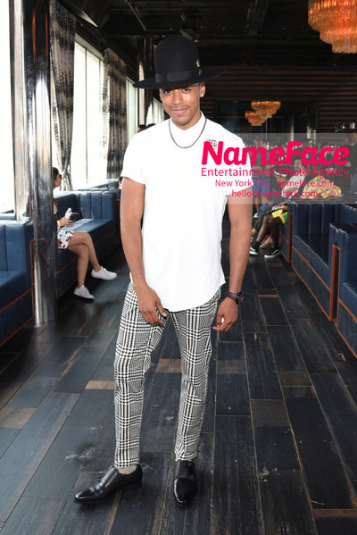 Romeo Hunte SS19 Runway Show - Front Row Justiin Davis - NameFace Photo Agency New York City - hello@nameface.com - nameface.com - Photo by Daniela Kirsch