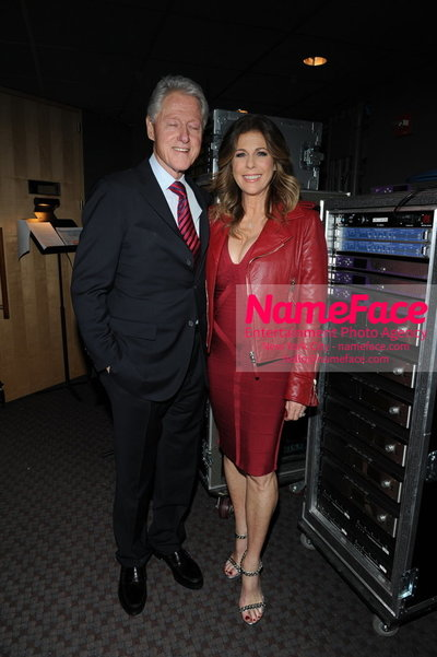 Womans Day Red Dress Awards to benefit the American Heart Associations Go Red For Women 2014 Bill Clinton and Rita Wilson - NameFace Photo Agency New York City - hello@nameface.com - nameface.com - Photo by