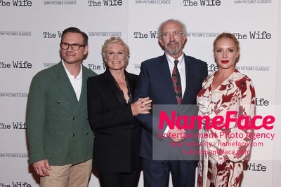 Special New York Screening of The Wife hosted by Sony Pictures Classics Christian Slater, Glenn Close, Jonathan Price and Annie Starke - NameFace Photo Agency New York City - hello@nameface.com - nameface.com - Photo by Daniela Kirsch