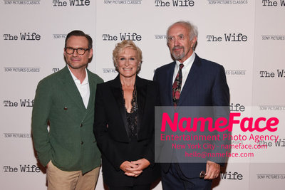 Special New York Screening of The Wife hosted by Sony Pictures Classics Christian Slater, Glenn Close and Jonathan Price - NameFace Photo Agency New York City - hello@nameface.com - nameface.com - Photo by Daniela Kirsch