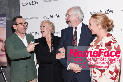 Special New York Screening of The Wife hosted by Sony Pictures Classics Christian Slater, Glenn Close, Jonathan Pryce and Annie Starke - NameFace Photo Agency New York City - hello@nameface.com - nameface.com - Photo by Daniela Kirsch