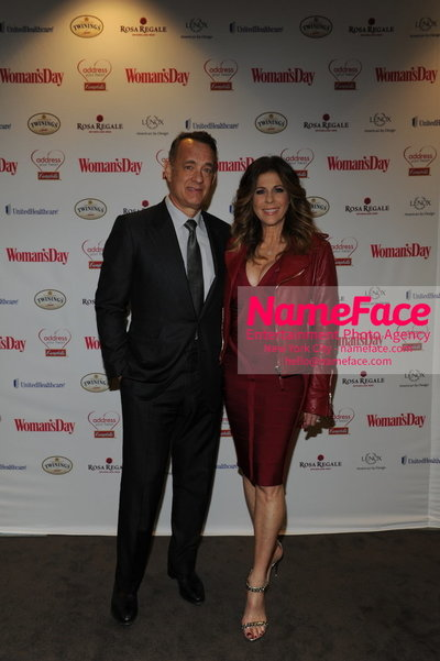 Womans Day Red Dress Awards to benefit the American Heart Associations Go Red For Women 2014 Tom Hanks and Rita Wilson - NameFace Photo Agency New York City - hello@nameface.com - nameface.com - Photo by
