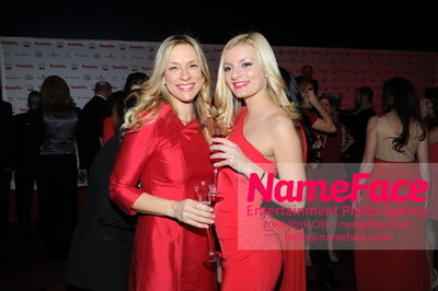 Womans Day Red Dress Awards to benefit the American Heart Associations Go Red For Women 2014 Leslie Hendrix  and Guest - NameFace Photo Agency New York City - hello@nameface.com - nameface.com - Photo by
