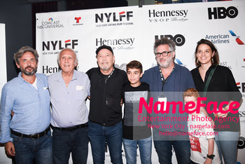 Opening Night Latino Film Festival and Screening 'Ruben Blades Is Not My Name' Ruben Blades, Abner Benaim and family - NameFace Photo Agency New York City - hello@nameface.com - nameface.com - Photo by Daniela Kirsch
