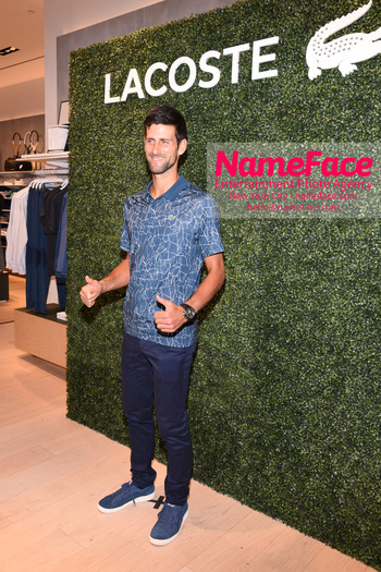 Macy's celebrates Lacoste's new crocodile tennis star Novak Djokovic Novak Djokovic - NameFace Photo Agency New York City - hello@nameface.com - nameface.com - Photo by Daniela Kirsch