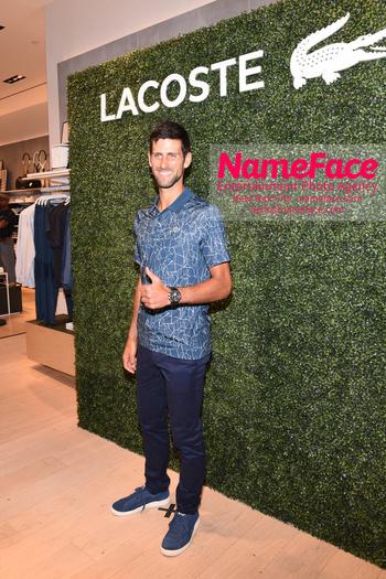 Macy's celebrates Lacoste's new crocodile tennis star Novak Djokovic Novak Djokovic - NameFace Photo Agency New York City - hello@nameface.com - nameface.com - Photo by Daniela Kirsch
