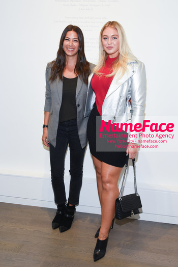 NYFW: An Exclusive Fashion Week Lunch Event at Rebecca Minkoff Rebecca Minkoff and Iskra Lawrence - NameFace Photo Agency New York City - hello@nameface.com - nameface.com - Photo by Daniela Kirsch