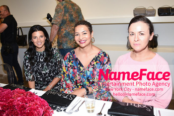 NYFW: An Exclusive Fashion Week Lunch Event at Rebecca Minkoff Candice Pool, Guest and Guest - NameFace Photo Agency New York City - hello@nameface.com - nameface.com - Photo by Daniela Kirsch