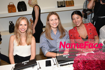 NYFW: An Exclusive Fashion Week Lunch Event at Rebecca Minkoff Guest, Nora Milch and Guest - NameFace Photo Agency New York City - hello@nameface.com - nameface.com - Photo by Daniela Kirsch