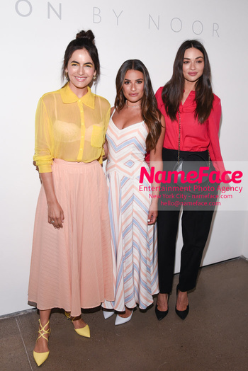 Noon By Noor - Front Row - September 2018 - New York Fashion Week: The Shows Camilla Belle, Lea Michele and Crystal Reed - NameFace Photo Agency New York City - hello@nameface.com - nameface.com - Photo by Daniela Kirsch