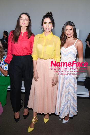 Noon By Noor - Front Row - September 2018 - New York Fashion Week: The Shows Crystal Reed, Camilla Belle and Lea Michele - NameFace Photo Agency New York City - hello@nameface.com - nameface.com - Photo by Daniela Kirsch
