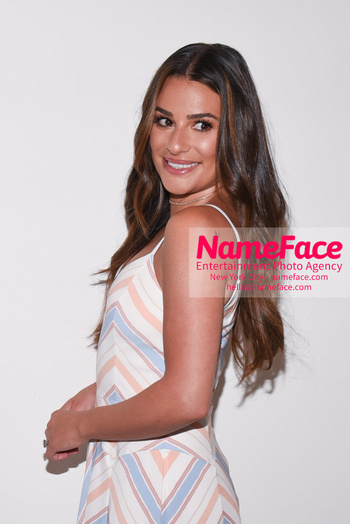 Noon By Noor - Front Row - September 2018 - New York Fashion Week: The Shows Lea Michele - NameFace Photo Agency New York City - hello@nameface.com - nameface.com - Photo by Daniela Kirsch