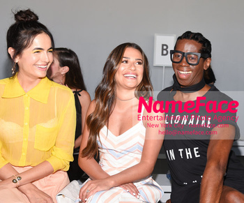 Noon By Noor - Front Row - September 2018 - New York Fashion Week: The Shows Camilla Belle, Lea Michele and J. Alexander - NameFace Photo Agency New York City - hello@nameface.com - nameface.com - Photo by Daniela Kirsch