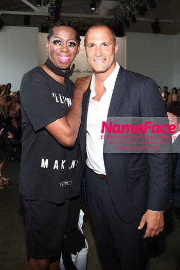 NYFW Pamella Roland Runway Show J. Alexander and Nigel Barker - NameFace Photo Agency New York City - hello@nameface.com - nameface.com - Photo by Daniela Kirsch