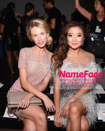 NYFW Pamella Roland Runway Show Tessa Hilton and Ashley Park - NameFace Photo Agency New York City - hello@nameface.com - nameface.com - Photo by Daniela Kirsch