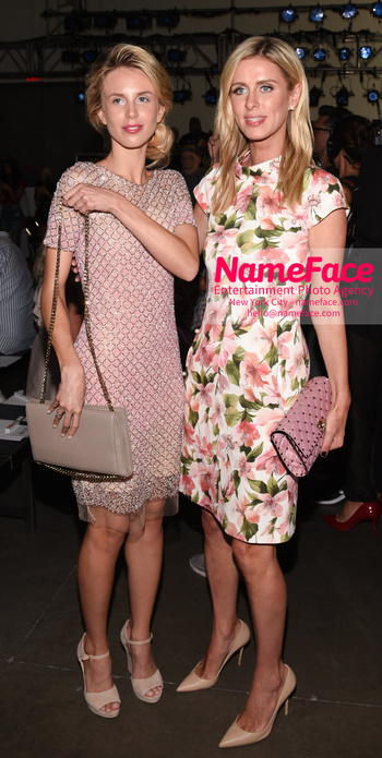 NYFW Pamella Roland Runway Show Tessa Hilton and Nicky Hilton - NameFace Photo Agency New York City - hello@nameface.com - nameface.com - Photo by Daniela Kirsch