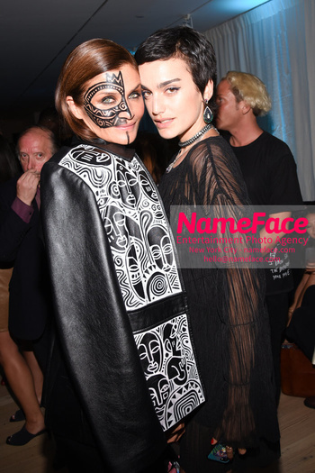 Belvedere Vodka Launches Laolu Senbanjo 2018 Limited Edition Bottle During New York Fashion Week Helena Christensen and Carolina Meijas - NameFace Photo Agency New York City - hello@nameface.com - nameface.com - Photo by Daniela Kirsch