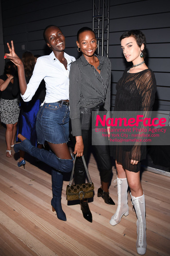 Belvedere Vodka Launches Laolu Senbanjo 2018 Limited Edition Bottle During New York Fashion Week Tricia Akello, Shena Moulton and Carolina Meijas - NameFace Photo Agency New York City - hello@nameface.com - nameface.com - Photo by Daniela Kirsch