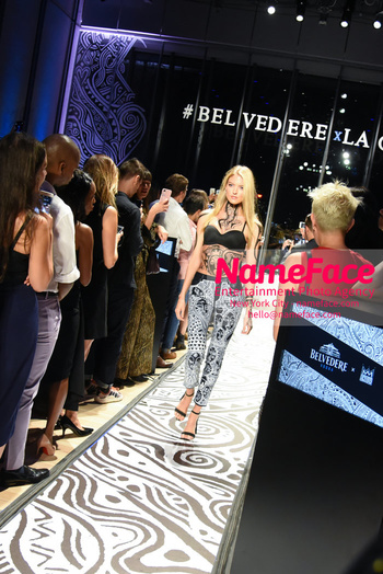 Belvedere Vodka Launches Laolu Senbanjo 2018 Limited Edition Bottle During New York Fashion Week Martha Hunt - NameFace Photo Agency New York City - hello@nameface.com - nameface.com - Photo by Daniela Kirsch