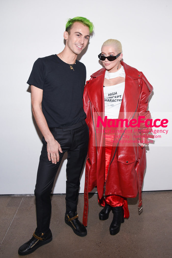 Christian Cowan Runway Show NYFW Christian Cowan and Christina Aguilera - NameFace Photo Agency New York City - hello@nameface.com - nameface.com - Photo by Daniela Kirsch