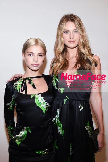 Cynthia Rowley NYFW Runway Show on Skates Kit Keenan - daughter of Cynthia Rowley - and Caroline Lowe - NameFace Photo Agency New York City - hello@nameface.com - nameface.com - Photo by Daniela Kirsch