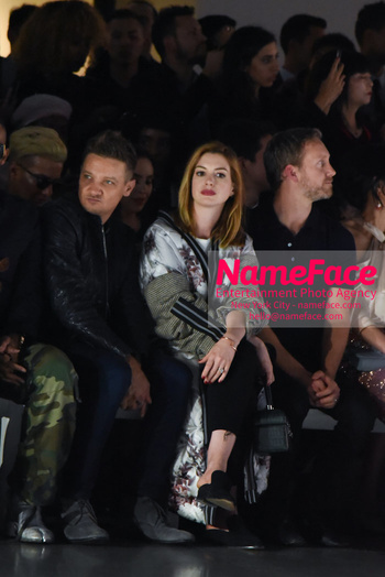 Anne Hathaway - Bosideng Fashion Runway Show NYFW 2018 Jeremy Renner and Anne Hathaway - NameFace Photo Agency New York City - hello@nameface.com - nameface.com - Photo by Daniela Kirsch