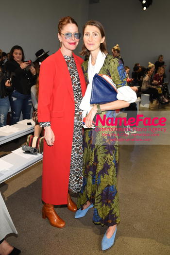 Tome Runway Show NYFW Christene Barberich and Guest - NameFace Photo Agency New York City - hello@nameface.com - nameface.com - Photo by Daniela Kirsch