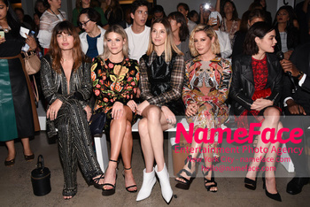 Naeem Khan Runway Fashion Show Front Row Witney Carson, Whitney Port, Ashley Tisdale, Lucy Hale and Nikki Reed - NameFace Photo Agency New York City - hello@nameface.com - nameface.com - Photo by Daniela Kirsch