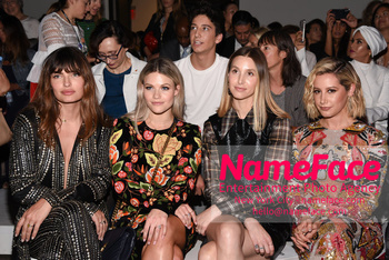Naeem Khan Runway Fashion Show Front Row Witney Carson, Whitney Port, Ashley Tisdale and Lucy Hale - NameFace Photo Agency New York City - hello@nameface.com - nameface.com - Photo by Daniela Kirsch