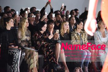 Naeem Khan Runway Fashion Show Front Row  Carmen Electra, Leigh Lezark, Jackie Cruz, Peyton List, Cara Santana, Lindsey Vonn and Iskra Lawrence - NameFace Photo Agency New York City - hello@nameface.com - nameface.com - Photo by Daniela Kirsch