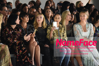 Naeem Khan Runway Fashion Show Front Row Jackie Cruz, Peyton List, Cara Santana, Lindsey Vonn and Iskra Lawrence - NameFace Photo Agency New York City - hello@nameface.com - nameface.com - Photo by Daniela Kirsch