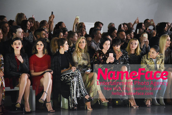 Naeem Khan Runway Fashion Show Front Row Lucy Hale, Nikki Reed, Carmen Electra, Jackie Cruz, Peyton List, Cara Santana, Lindsey Vonn and Iskra Lawrence  - NameFace Photo Agency New York City - hello@nameface.com - nameface.com - Photo by Daniela Kirsch
