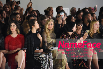 Naeem Khan Runway Fashion Show Front Row Nikki Reed, Carmen Electra, Leigh Lezark, Jackie Cruz, Peyton List,Cara Santana - NameFace Photo Agency New York City - hello@nameface.com - nameface.com - Photo by Daniela Kirsch