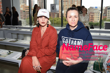 Arrivals Marcel Ostertag Runway Show NYFW Ronnie and Sophie Gruetzner - NameFace Photo Agency New York City - hello@nameface.com - nameface.com - Photo by Daniela Kirsch