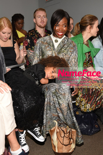 Arrivals Marcel Ostertag Runway Show NYFW Aria De Chicchis and Pam Mbatani - NameFace Photo Agency New York City - hello@nameface.com - nameface.com - Photo by Daniela Kirsch