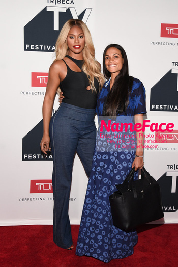 NY: The Journey at Tribeca TV Festival Laverne Cox and Rosario Dawson - NameFace Photo Agency New York City - hello@nameface.com - nameface.com - Photo by Daniela Kirsch