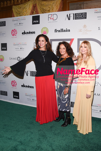 Fashion 4 Development's 8th Annual Official First Ladies Luncheon Claudia Romo Edelman, Diane von Furstenberg and Evie Evangelou - NameFace Photo Agency New York City - hello@nameface.com - nameface.com - Photo by Daniela Kirsch