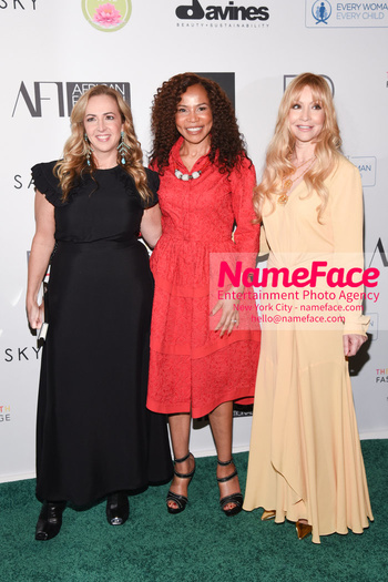 Fashion 4 Development's 8th Annual Official First Ladies Luncheon Melanie Steiner, Dr. Precious Moloi-Motsepe, and Evie Evangelou - NameFace Photo Agency New York City - hello@nameface.com - nameface.com - Photo by Daniela Kirsch