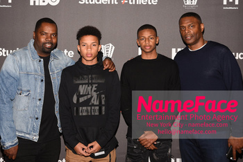 HBO Student Athlete Documentary Screening Party Oronde Garrett, Niko Ruffin, Jayden Lemond and Troy Lemond - NameFace Photo Agency New York City - hello@nameface.com - nameface.com - Photo by Daniela Kirsch