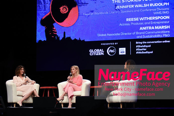 Global Citizen, P&G and #SeeHer Present: #SheIsEqual Summit Jennifer Walsh Rudolph, Reese Witherspoon and Anitra Marsh - NameFace Photo Agency New York City - hello@nameface.com - nameface.com - Photo by Daniela Kirsch